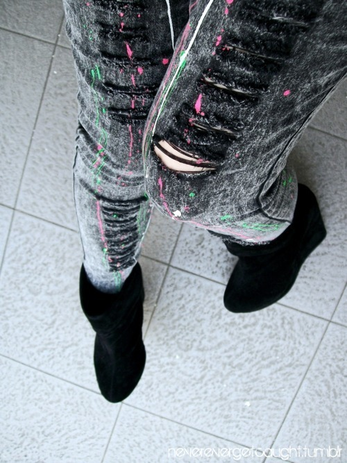 boot, fashion, jeans, moda, ripped, style