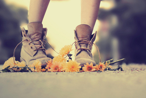 boots, fashion, flowers, love, photography
