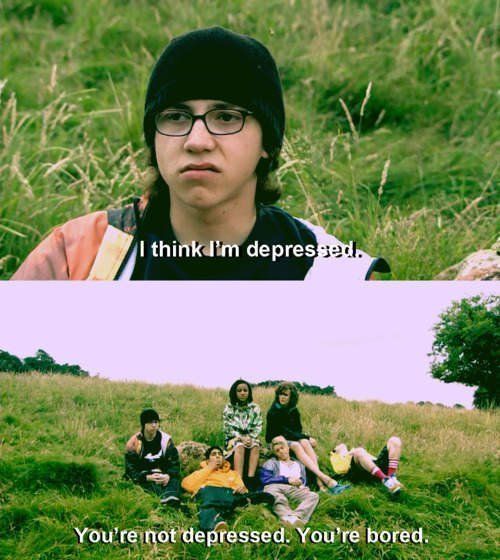 bored, depressed, funny, lol, sid, skins