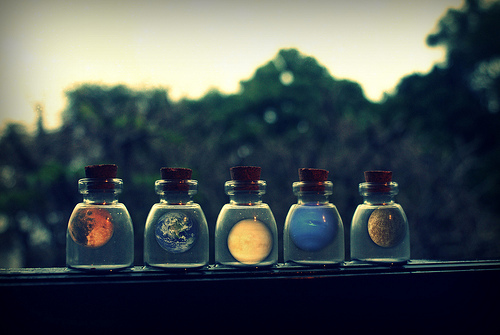 bottles, cosmos, cute, earth, galaxy