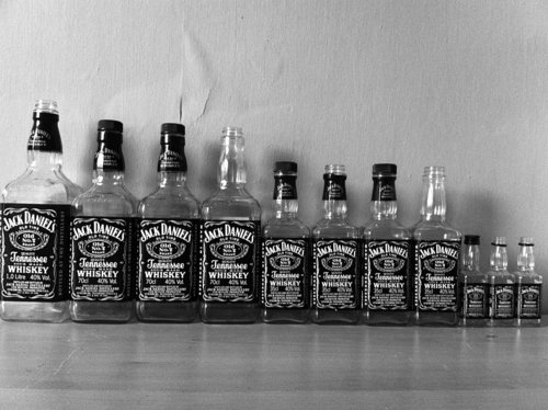 bottles, daniels, jack, whiskey