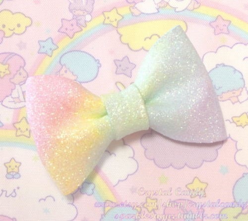 bow, bows, cute, pastel, rainbow