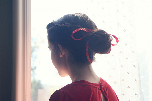 bows, cute, fashion, girl, photography, red, ribbon