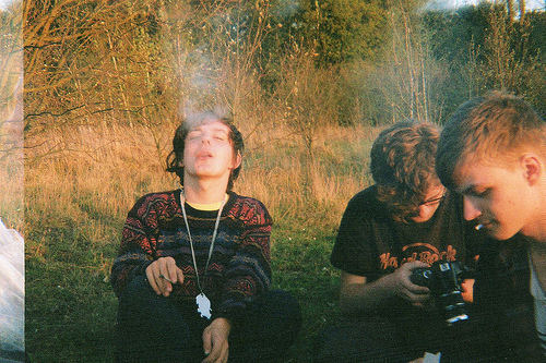 boy, boys, camera, cigarette, forest