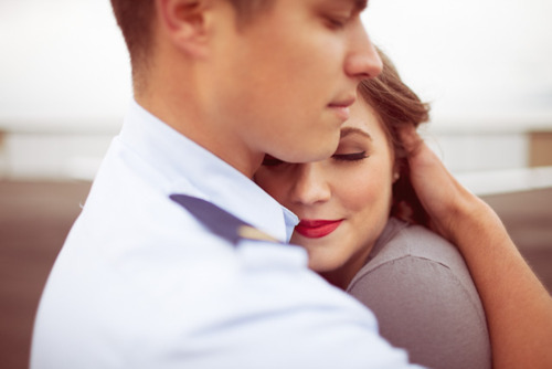 boy, brunette, close, couple, cuddle, cuddling, girl, guy, hug, hugging, lips, lipstick, love, navy, red, vintage
