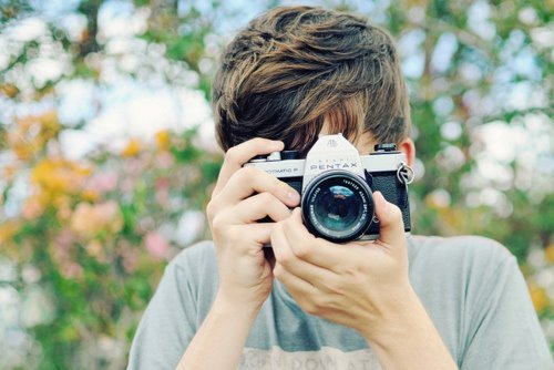 boy, camera, cute, landscape, photo