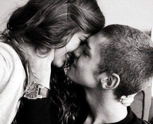 boy, couple, cute, girl, kiss, love, smile