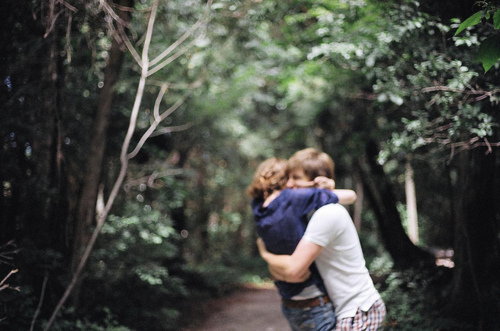 boy, couple, forest, girl, hug