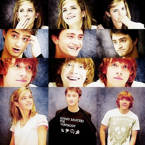boy, daniel radcliffe, emma watson, girl, harry potter, rupert grint