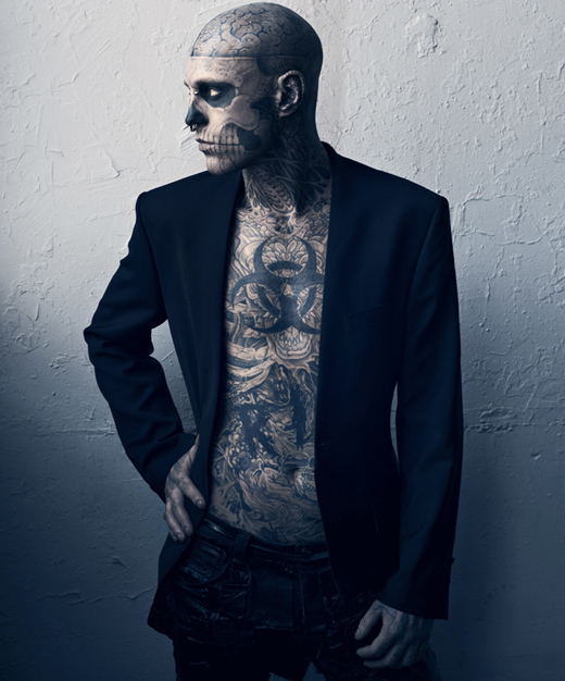 boy, ink, inked, rick genest, tattoo, tattoos, zombie, zombie boy