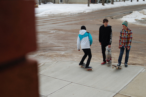 boys, cold, cute, skateboarding, snow