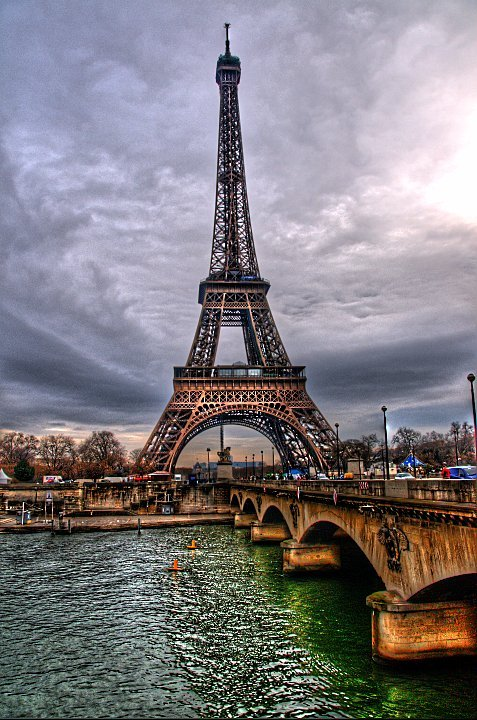 bridge, city, eiffel, france, francia