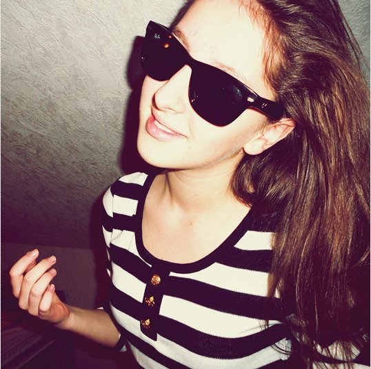 brown, cute, girl, hair, sunglasses, sweet