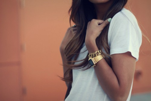 brunette, fashion, girl, hair, nails, summer