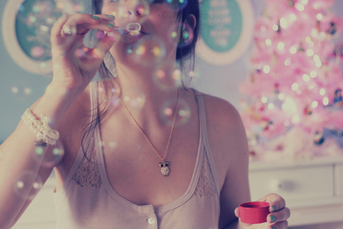 bubbles, funny, girl, love, photography