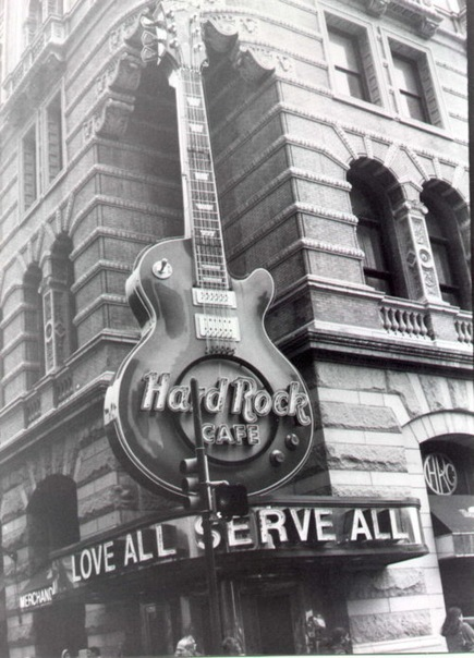 building, cafe, coffee, guitar, hard rock