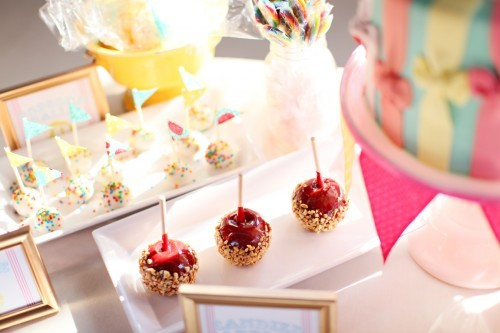 cake, candy apples, carnival, pink, sweets, wedding