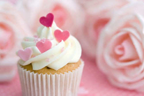 cakes, cupcake, cupcakes, cute, dessert, hearts, pastel, pink
