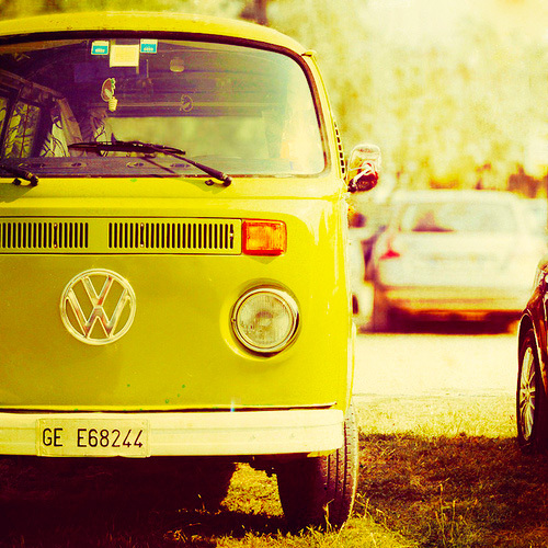 camper, car, colourful, cute, girly