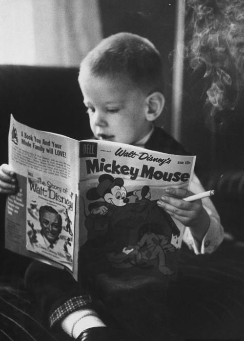 black, black white, boy, child, cigarette, cigarro, cute, guy, mickey, photograph, vintage, white