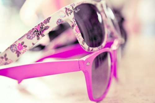 carolina alvarez, flower, glasses, nice, pink