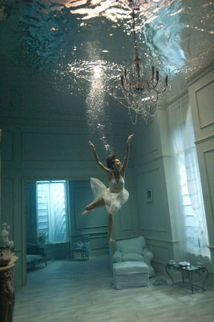 chandelier, girl, nice, room, water
