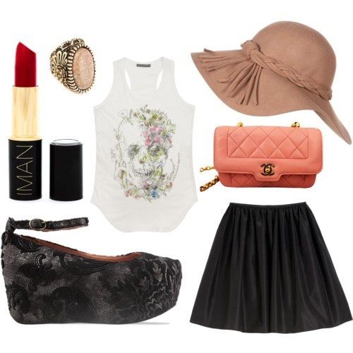 chanel, fashion, flatforms, jeffrey campbell, outfit