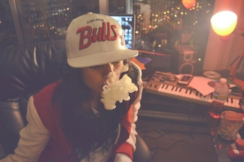 chicago bulls, dope, girl, smoke, swag
