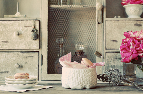 chill, home, kitchen, macarons, vintage