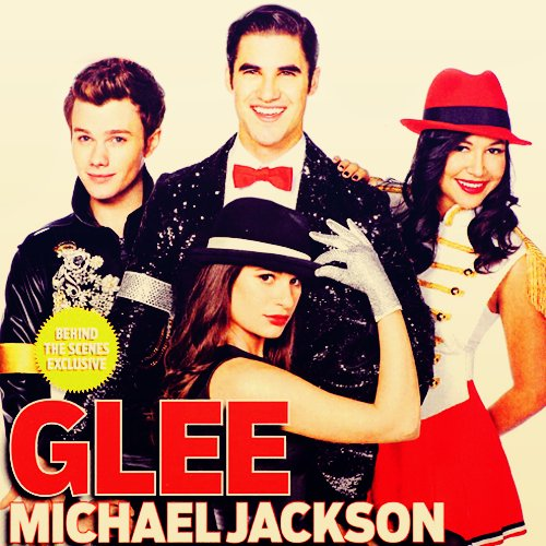 chris colfer, darren criss, glee, lea michele, michael jackson, naya rivera, tribute