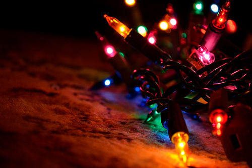 christmas, christmas lights, colorful, light, lights