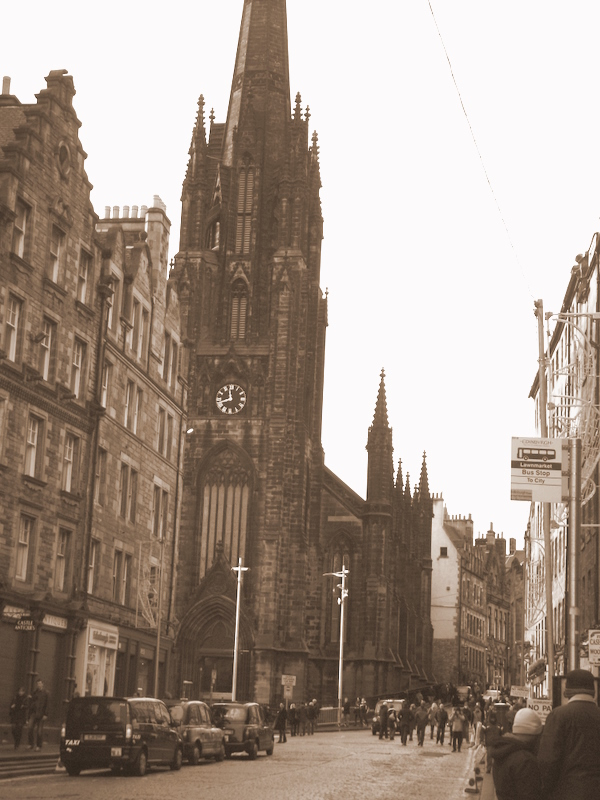 church, city, edinburgh, old, photography, sepia, the royal mile