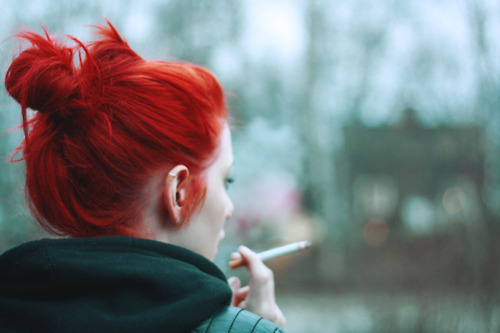 cigar, colored hair, girl, hair, photography, we-arent-alone