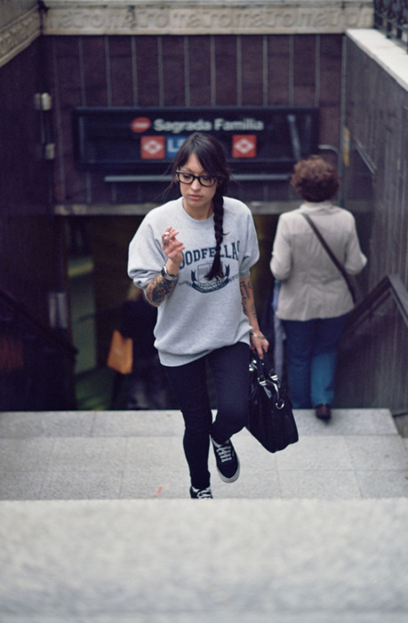 cigar, cool, geek, girl, hair, style, swag, tattoo