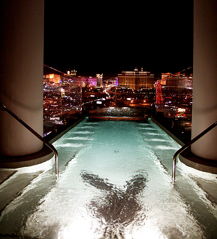 city, glam, glamorous, hotel, hugh hefner, hugh hefner suite, las vegas, lights, luxurious, luxury, night, palms, playboy, playboy suite, pool, rich, suite, swimming pool, the palms, vegas, water