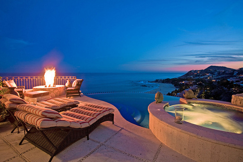 city, lights, luxury, ocean, pool