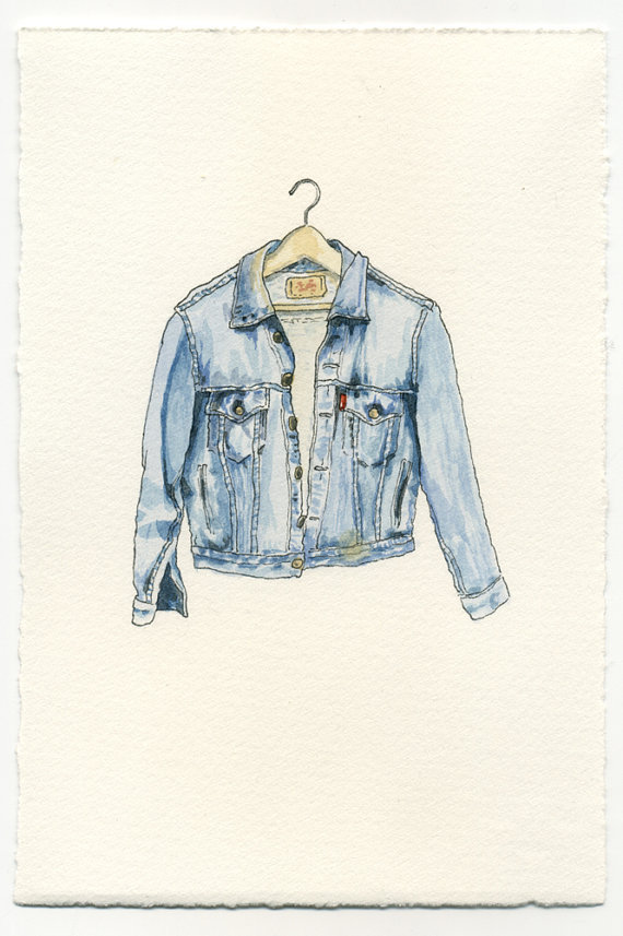 clothes, denim jacket, epherma friends garment, fashion, fashion illustration