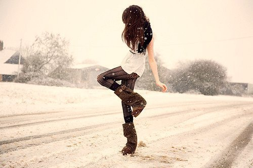 clothes, girl, snow