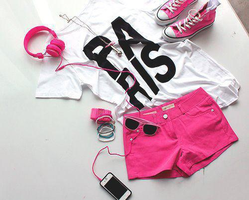 clothes, paris, pink, style
