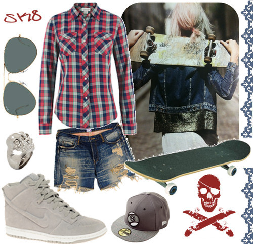 clothing, fashion, girl, outfit, outfit of the day, sk8, skater, skater girl