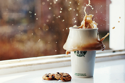 coffee, cookies, starbucks