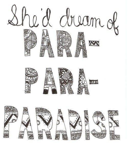 coldplay, lyric, paradise