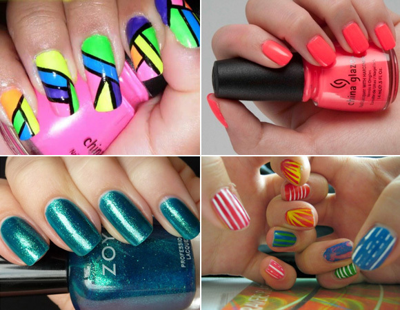 color, colorful, cute, esmaltes, fashion, girs, nail, nail art, nail polish, unhas