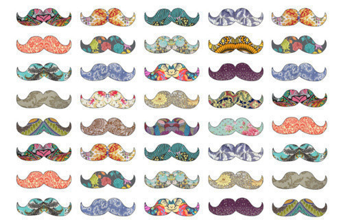 color, colorfull, mustache
