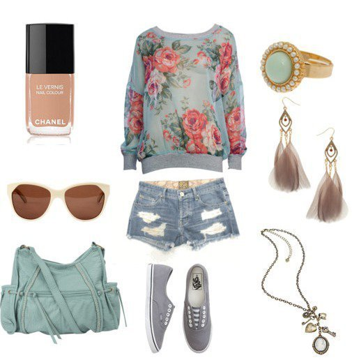 color, fashion, forever, girl, polyvore, summer, First Set on Favim.com
