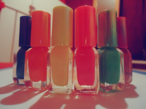 colorful, colors, cute, love, nailpolish
