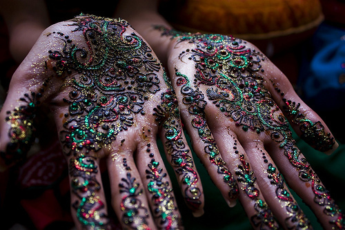 colorful, cool, hands, henna, india, photo, pretty, tattoo, tattoos