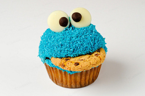 cookie, cupcake, cute, monster