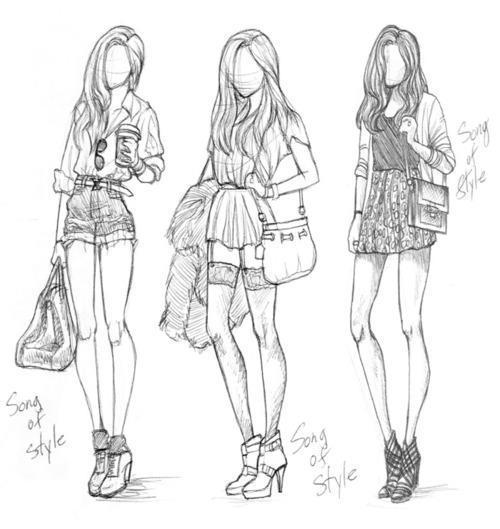 cool, drawn, fashion, illustration, style