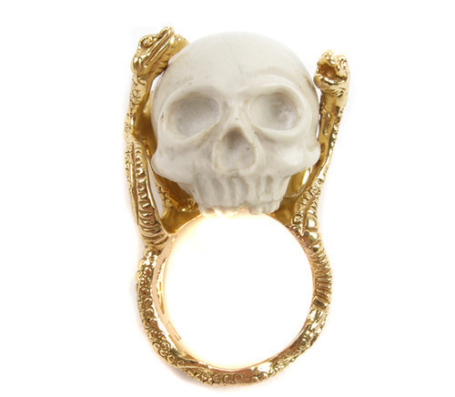 cool, fashion, ring and skull